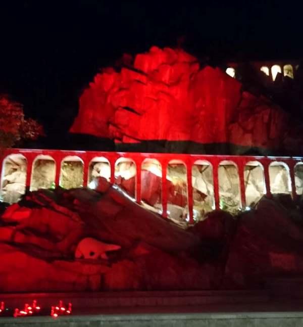 Акведуктът на Бунарджика светна в оранжево